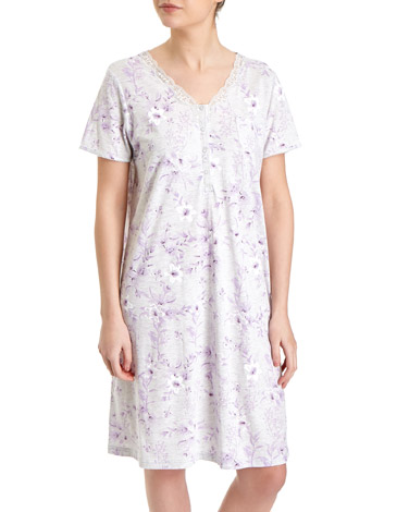 lilacLilac Lily Floral Nightdress (Short Length)