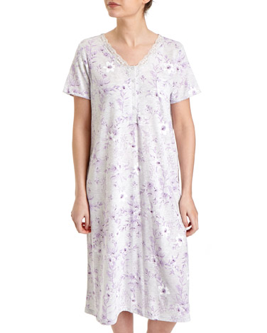 Lilac Lily Floral Nightdress (Regular Length)