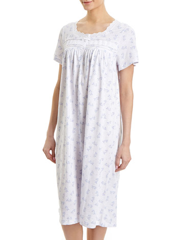 blueLace Trim Nightdress