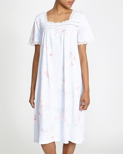 Lily Print Lace Nightdress