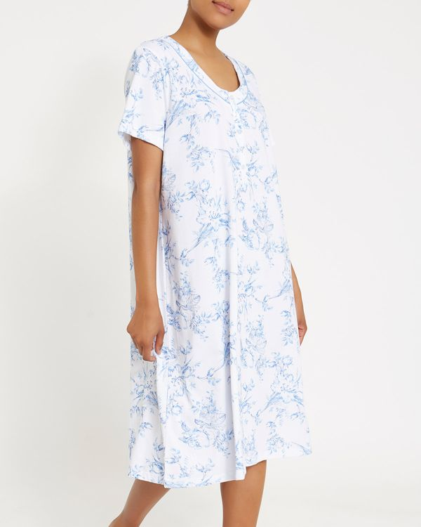 Soft Blue Floral Nightdress