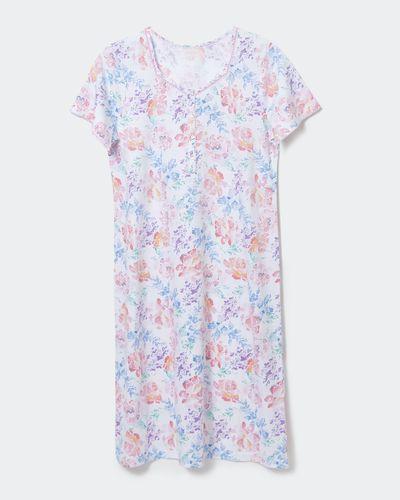 Cotton Lace Trim Nightdress thumbnail