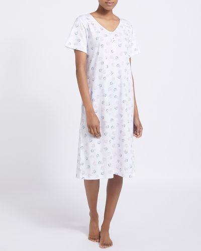 Cotton Ivory Floral Nightdress thumbnail