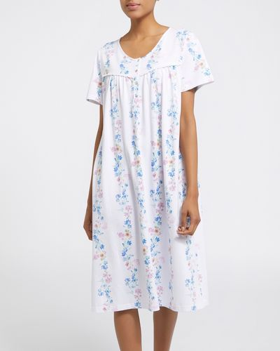 Trailing Floral Cotton Nightdress