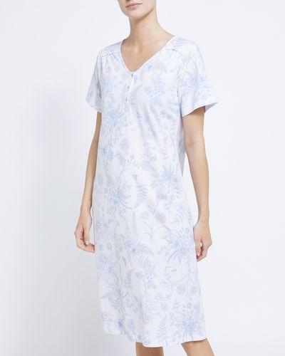 Blue Toile Lace Nightdress