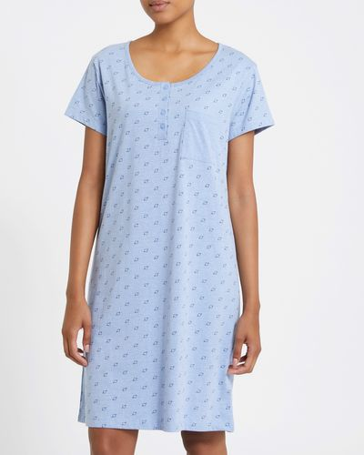 Button Trim Nightdress