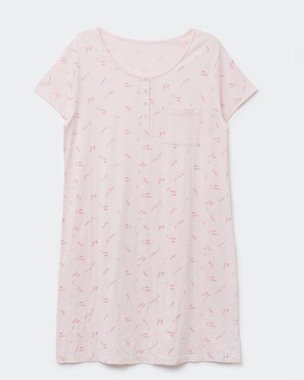 Button Trim Nightdress