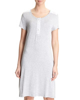 grey-marl Nightdress With Lace