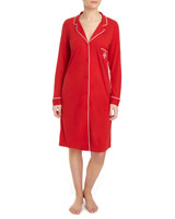 red Revere Collar Nightshirt