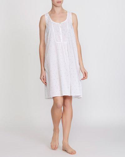 Cotton Printed Swiss Dobby Nightdress