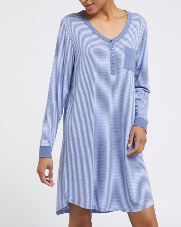 Stripe Henley Nightdress