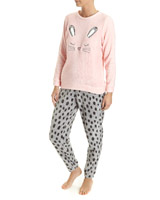 pink Bunny Coral Fleece Pyjamas
