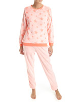coral Star Coral Fleece Pyjamas