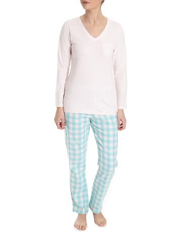 aquaGingham Pyjamas