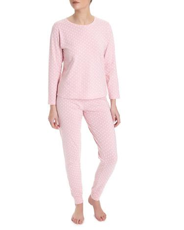 pinkPink Spot Knit Pyjamas