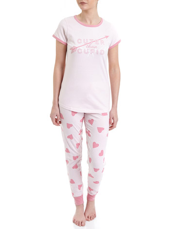 hearts Heart Knit Pyjamas