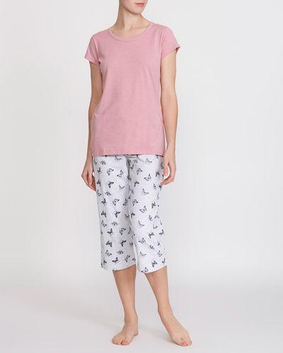 Butterfly T-Shirt And Crop Leg Pyjamas