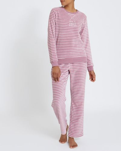 Fluffy Stripe Pyjamas