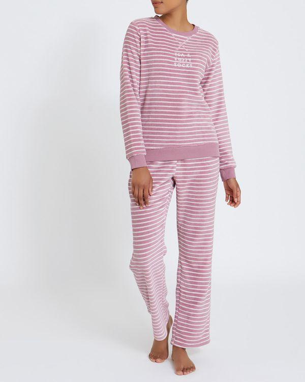 Fluffy Stripe Pyjamas