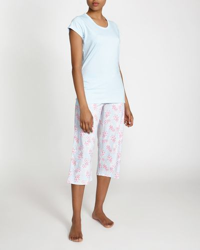 Blue Palm Crop Pyjama Set