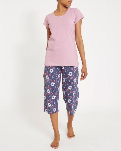 Floral Knit Crop Pyjama Set thumbnail