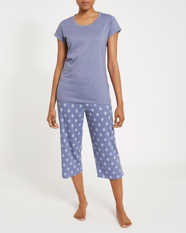 Ethnic Knit Crop Pyjama Set