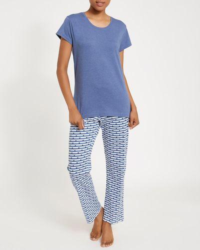 Blue Knit Pyjamas