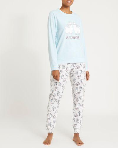 Llama Micro Fleece Pyjamas