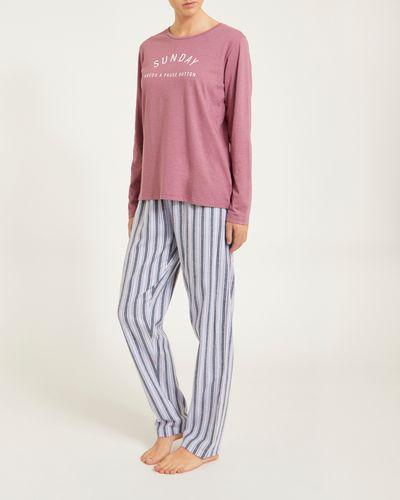Sunday Knit Woven Pyjamas