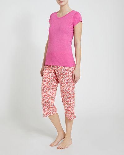 Printed Knit Crop Pyjamas