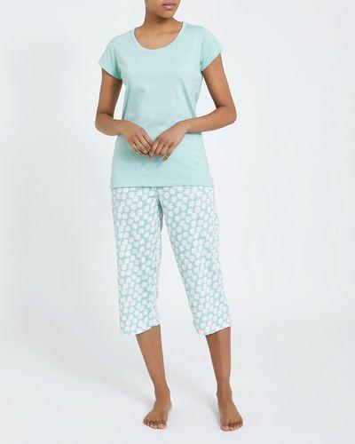 Ditsy Knit Crop Pyjama Set