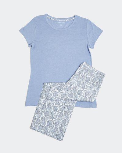 Paisley Knit Crop Pyjamas