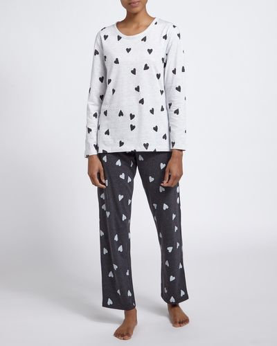 Grey Heart Pyjamas