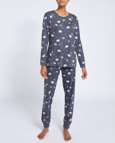 Long-Sleeved Knit Pyjamas