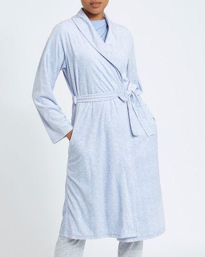 Blue Minky Fleece Wrap