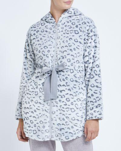 Leopard Tie Waist Wrap