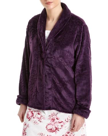 aubergineButton Bed Jacket