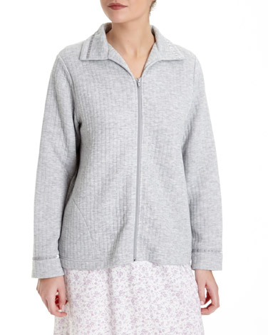 grey-marlQuilted Bed Jacket