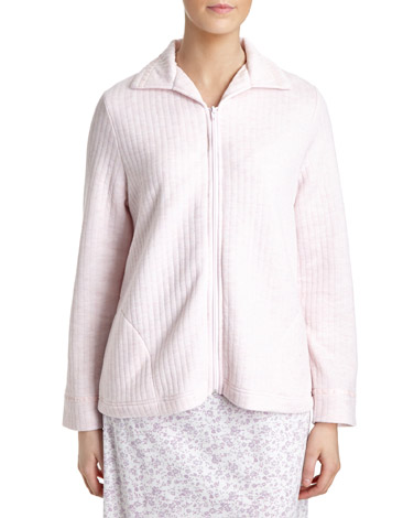 pinkQuilted Bed Jacket