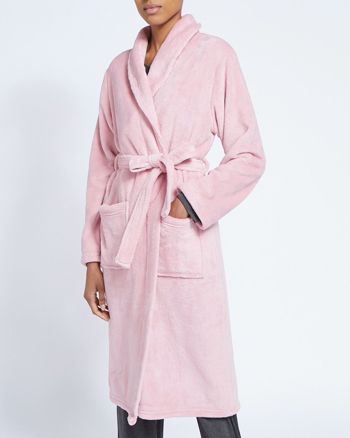 Dunnes Stores Pink Fluffy Dressing Gown