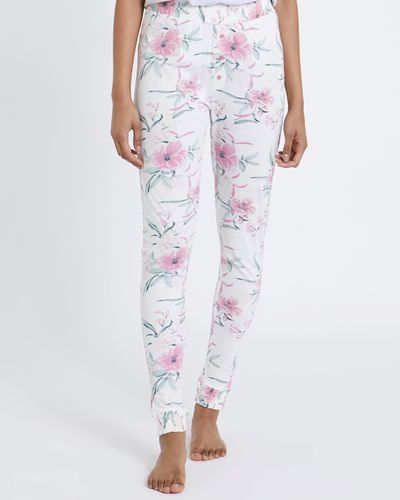 All-Over Print Floral Joggers