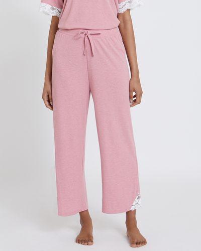 Lace Rib Crop Pants