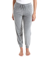 grey-marl Velour Jog Pants