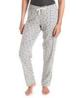 charcoal Viscose Heart Pyjama Pants