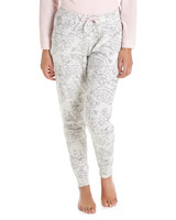 grey Sketch Floral Print Pyjama Bottoms