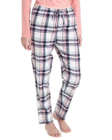 peach Check Pyjama Bottoms
