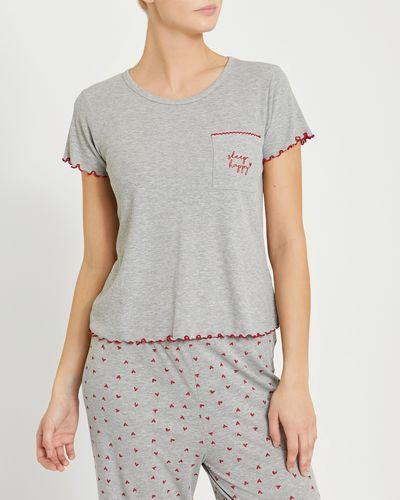 Heart Short-Sleeved Boxy Pyjama T-Shirt