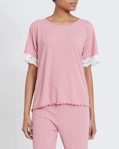 Lace Rib T-Shirt