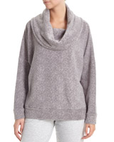 grey-marl Super Soft Cowl-Neck Jumper