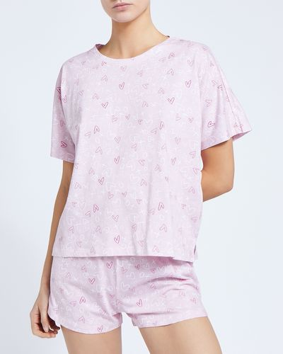 Organic Cotton All-Over Print Short Set
